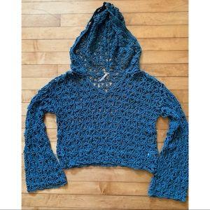 Free People Crochet Hoodie